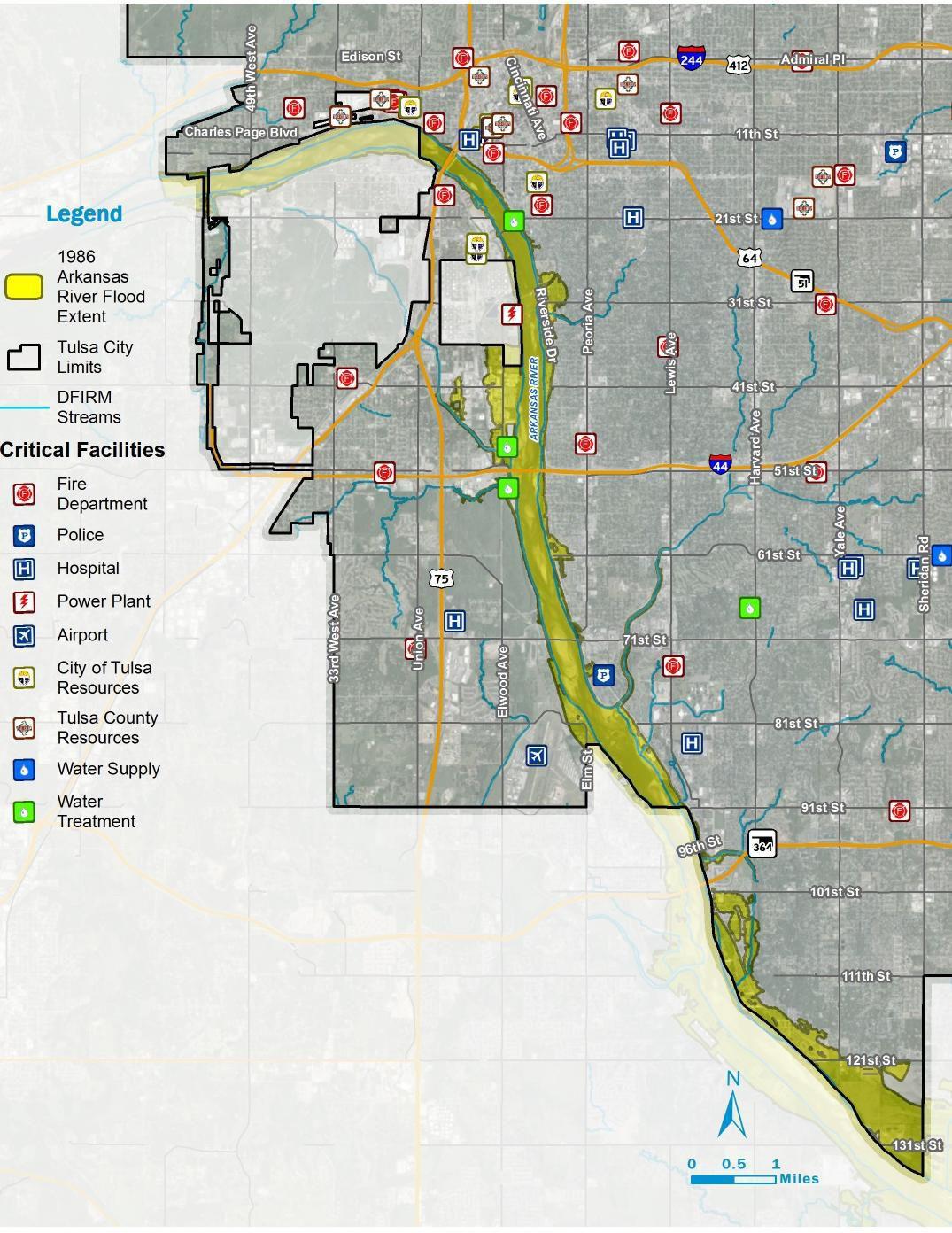 Map Of Tulsa City of Tulsa 1986 flood map | | tulsaworld.com