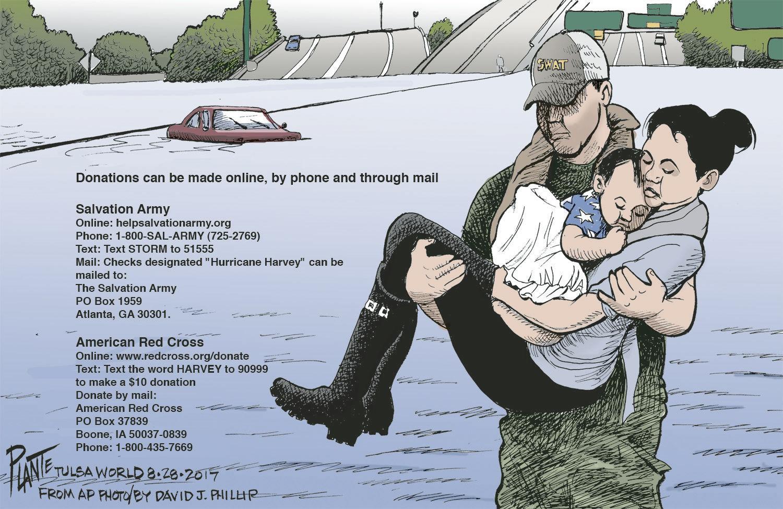 Bruce Plante Cartoon Texas Strong Editorial