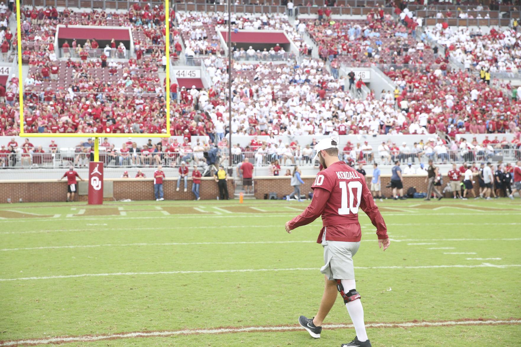 Austin Kendall Oklahoma Sooners Jordan Football Jersey - White