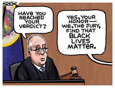 Cartoon: Chauvin Verdict by Steve Sack