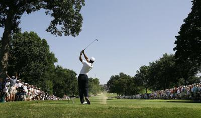 Tiger Woods wins the 2007 PGA Championship at Southern Hills