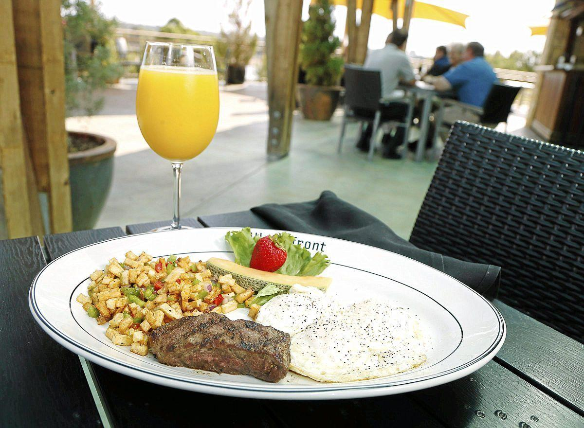 Waterfront Grill steak and eggs