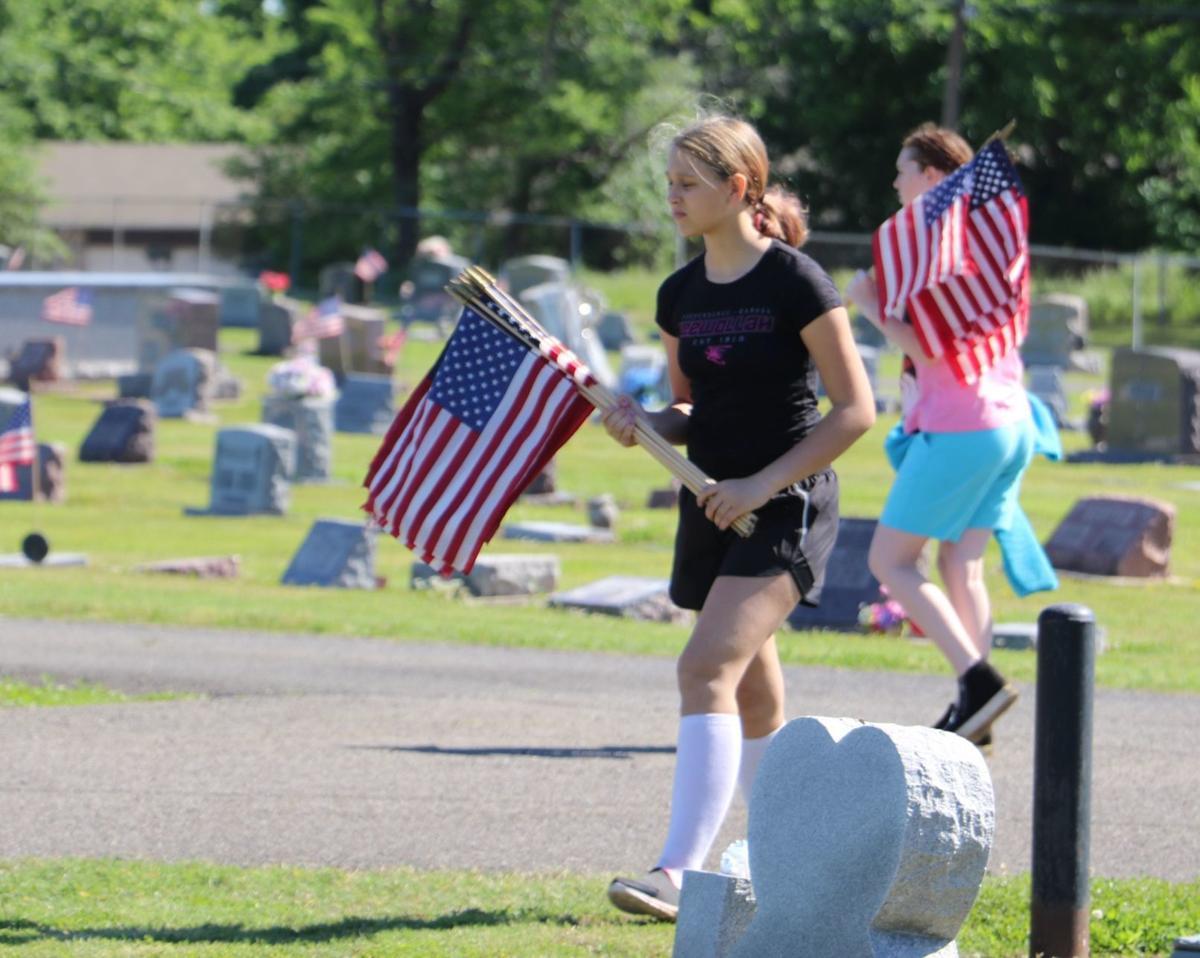 Elwood Cemetery Flags 2