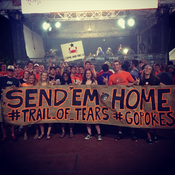 OSU Sports: 'Trail of Tears' sign at ESPN College GameDay ...