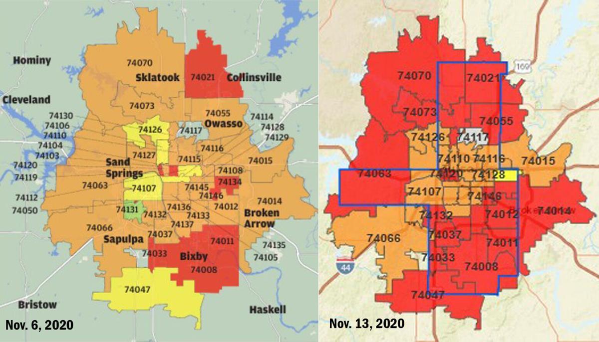 THD ZIP code alert map week-to-week change