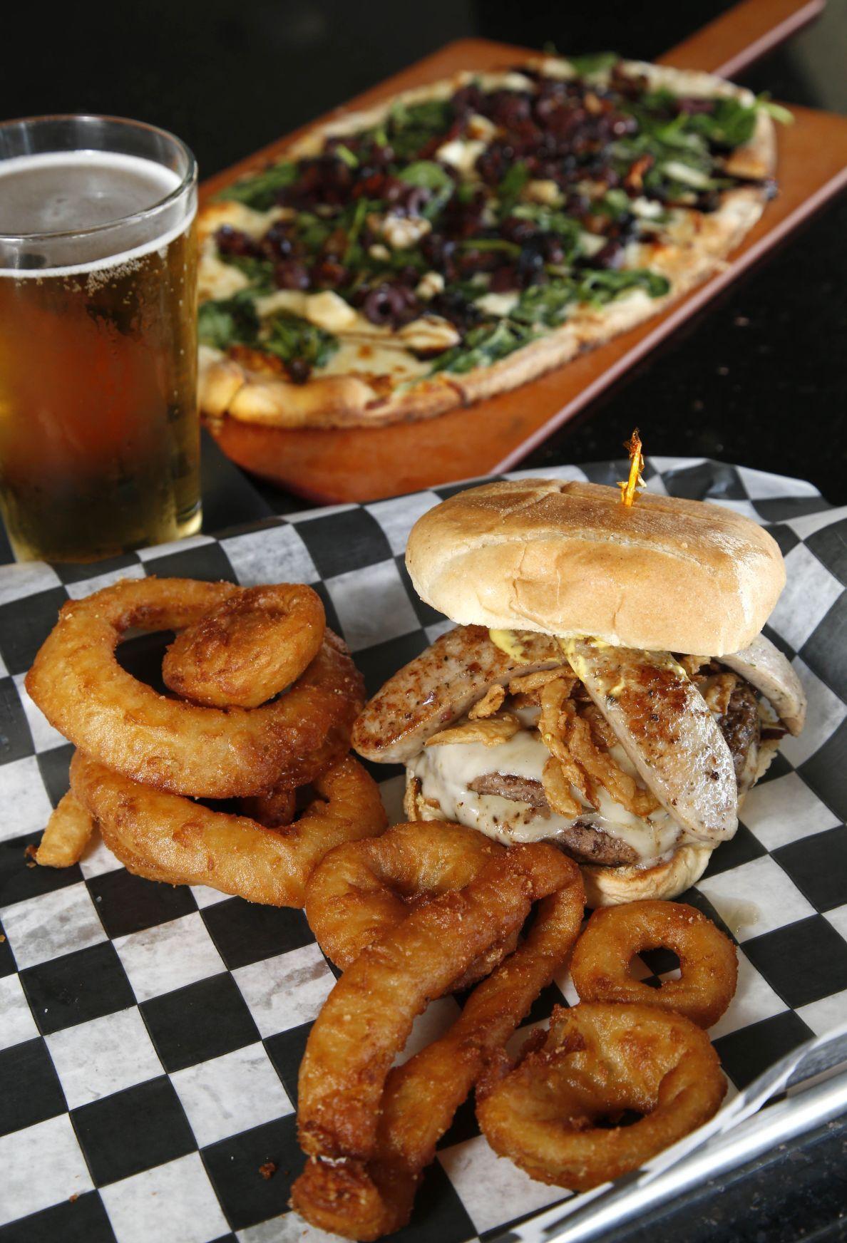 Arena Pub burger and flatbread