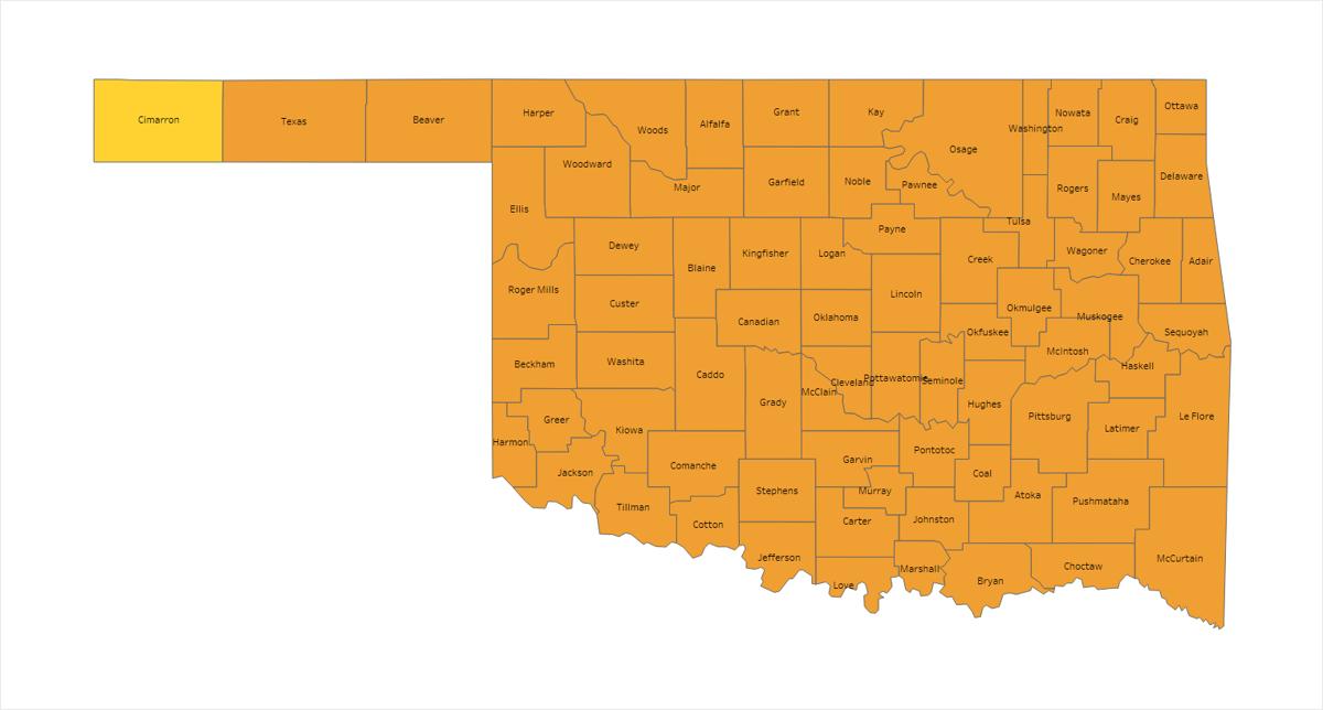 Oklahoma Covid Alert Map