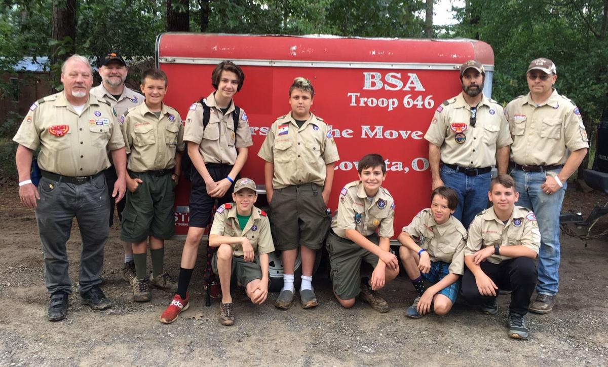 Rainy weather fails to put a damper on Boy Scout summer camp