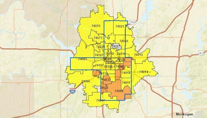 Tulsa Health Department map