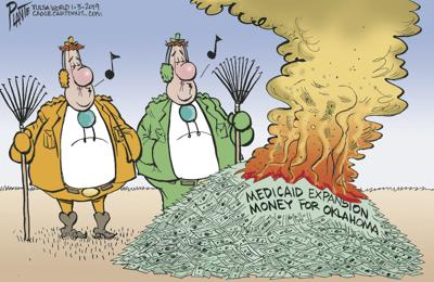 Bruce Plante Cartoon: Oklahoma's No Burn Ban