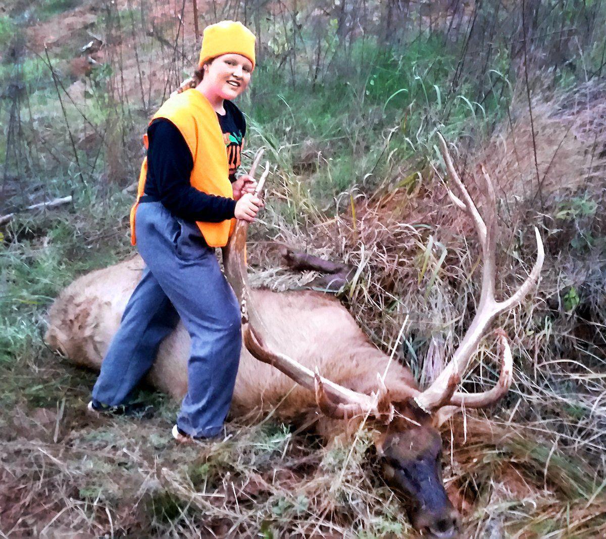 olivia parry now 15 takes new oklahoma record elk outdoors