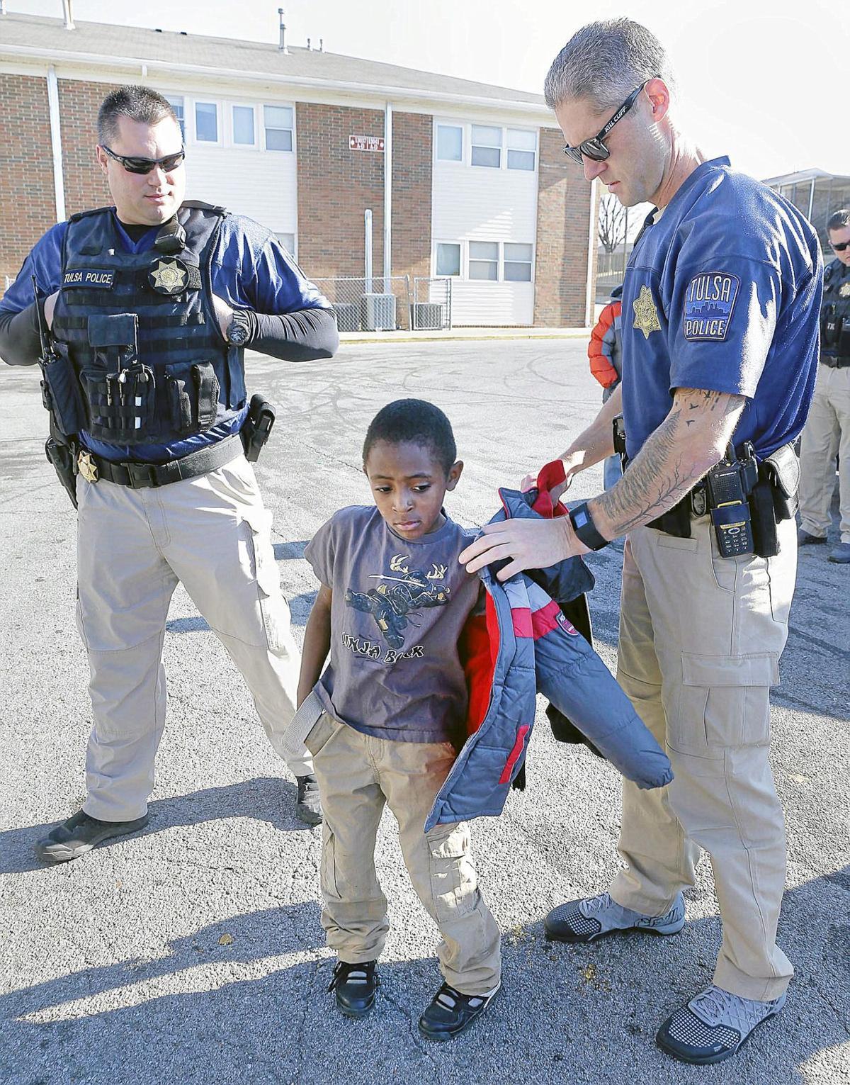 Tulsa Police Sgt  Sean 'Sticks' Larkin offers his huge