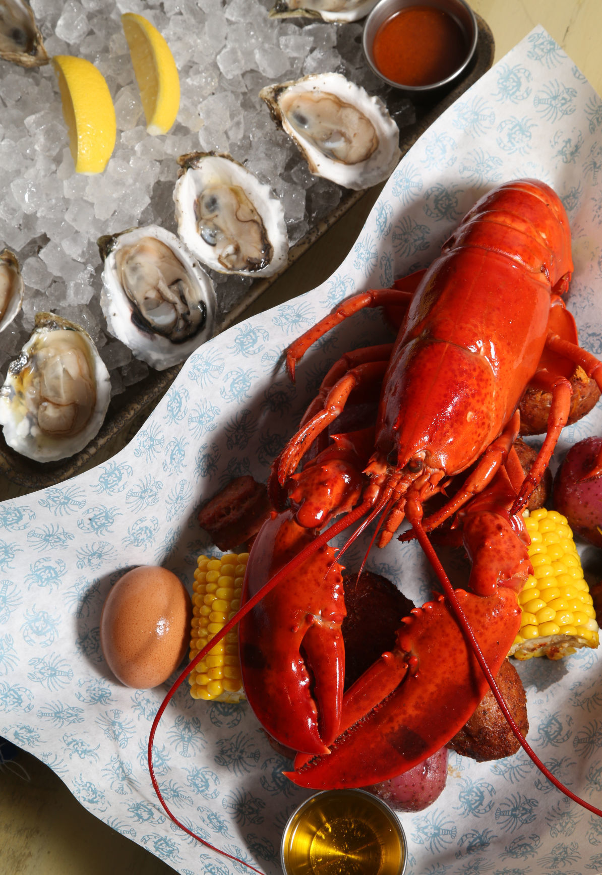 Peacemaker lobster & oysters 2