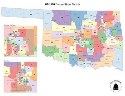 Proposed legislative districts map