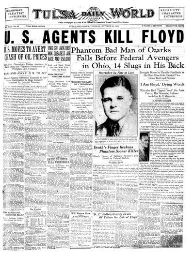 October 23 1934 Outlaw Pretty Boy Floyd Killed In Ohio
