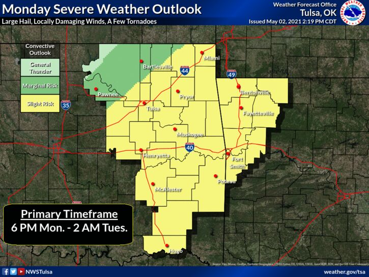 Monday severe outlook - NWS