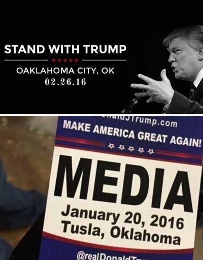 Misspelled Donald Trump Oklahoma City Tulsa Oaklahoma City Tusla