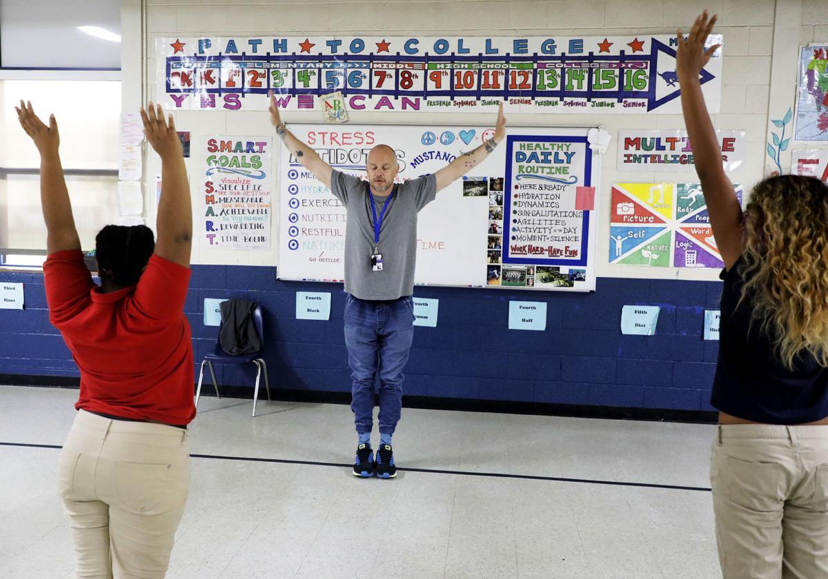 Day 4: Breaking the cycle: Tulsa elementary school gymnasium