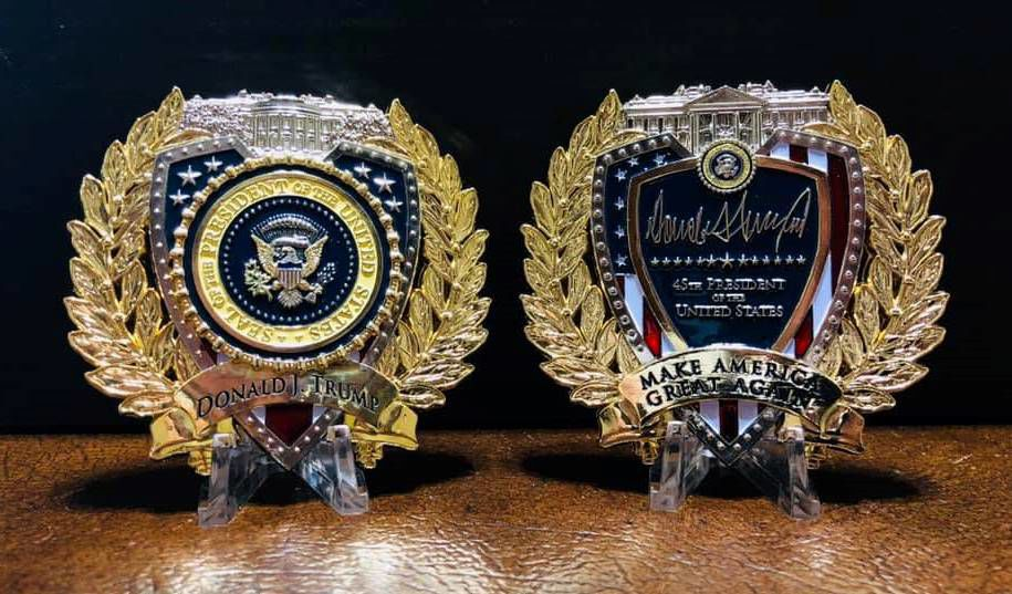 Challenge Coin TRUMP 45TH PRESIDENT CHALLENGE COIN