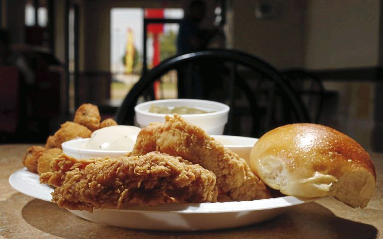 Review chicken express brings fast food fried chicken for Fish table sweepstakes near me
