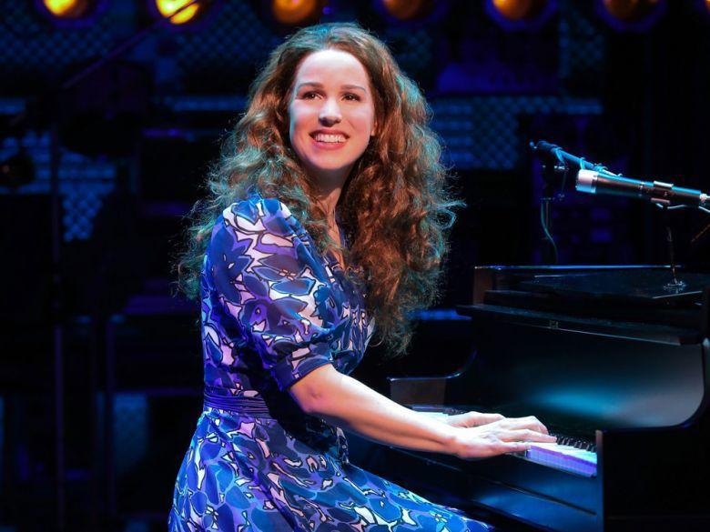 Carol King at the piano