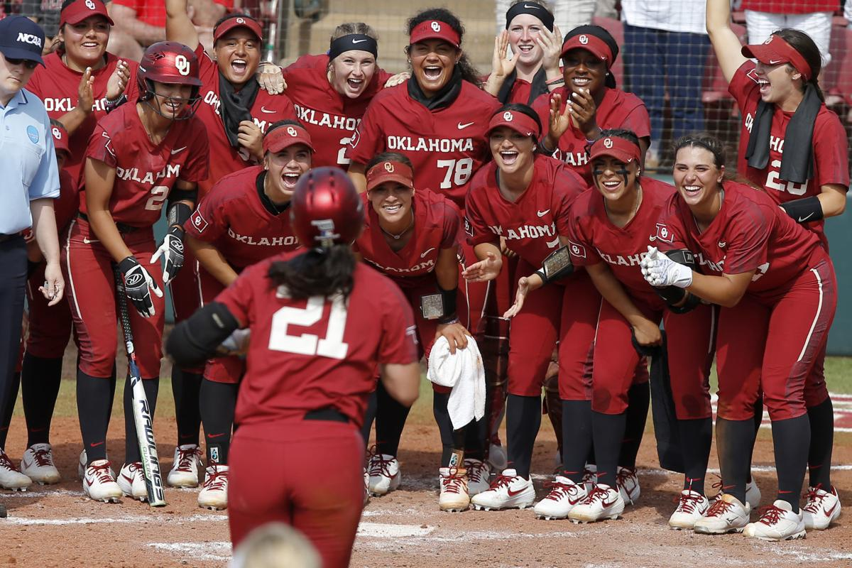 lowest price 8b68f fccd2 OU softball: No. 1 Sooners advance to Women's College World ...