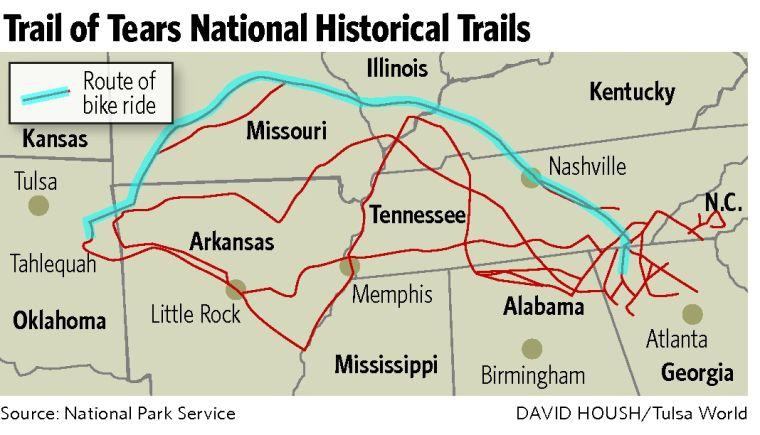 Cherokee Nation group hits bicycle Trail | | tulsaworld com