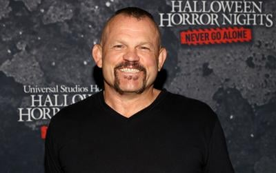 """Chuck Liddell attends the """" Halloween Horror Nights"""" Opening Night at Universal Studios Hollywood on Sept. 9, 2021 in Universal City, California."""