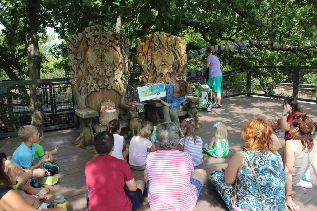Tulsa Botanic Garden offers  Tree Fort Story Times  each  Friday morning in June and July.