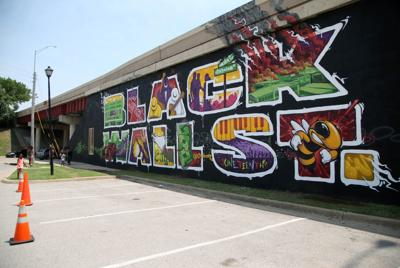 Black Wall Stret Mural (copy)