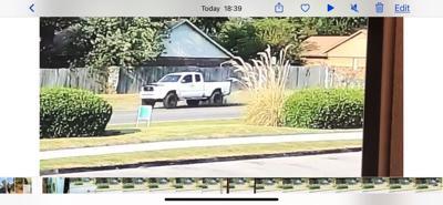 Hit and run white pickup
