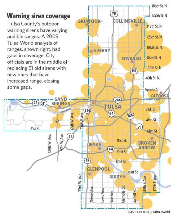 Tulsa County: Tulsa County's Tornado-warning Grid Is Closing Gaps With