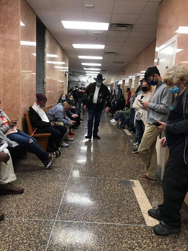 Courthouse crowding