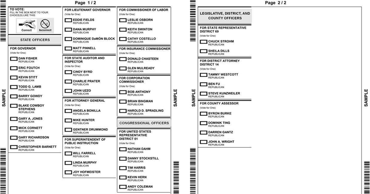 Get your sample ballot for the June 26 primary election | Election Results | tulsaworld.com