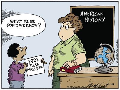 Cartoon: Tulsa Massacre by Bob Englehart