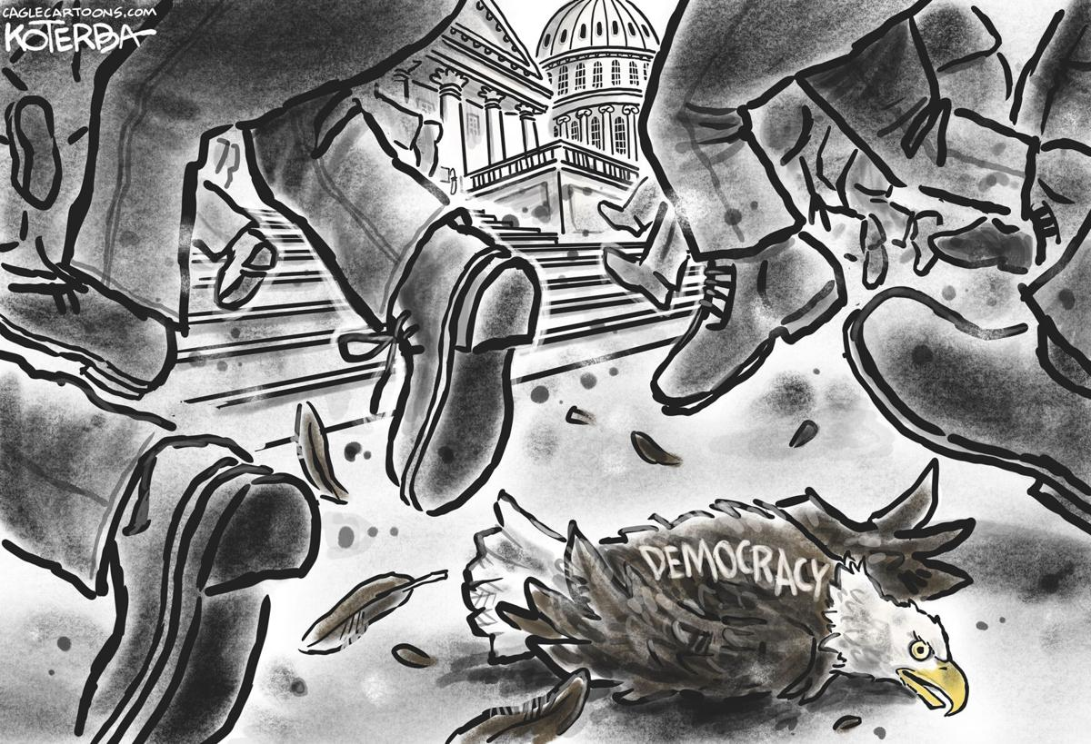 Syndicated Cartoon: An Attack on Democracy by Jeff Koterba