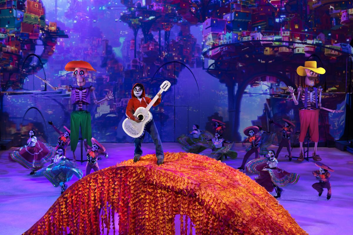 """image from """"Coco"""" in this year's Disney on Ice show at Tulsa State Fair"""