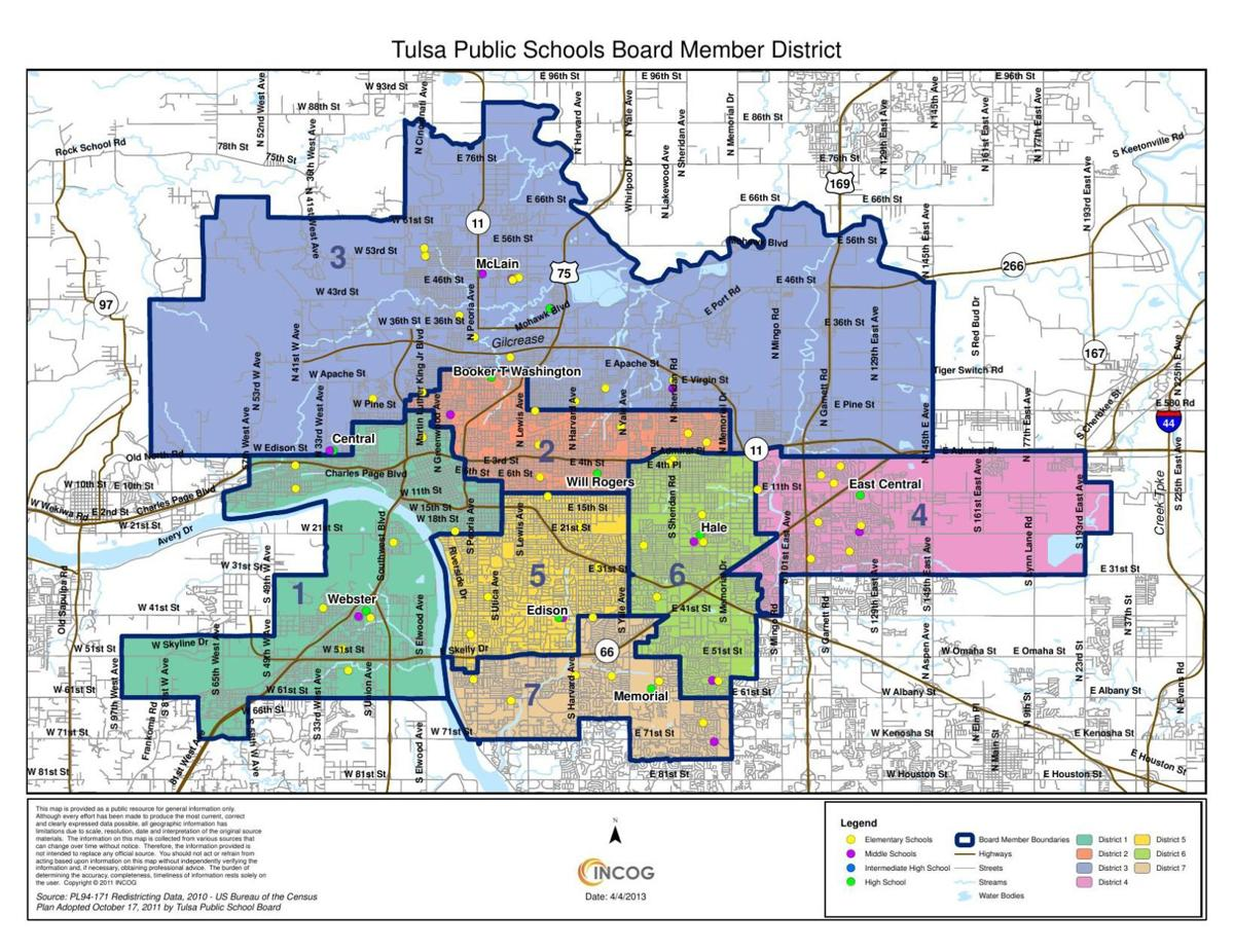 Tulsa Public Schools District Boundary Map Tulsaworld Com