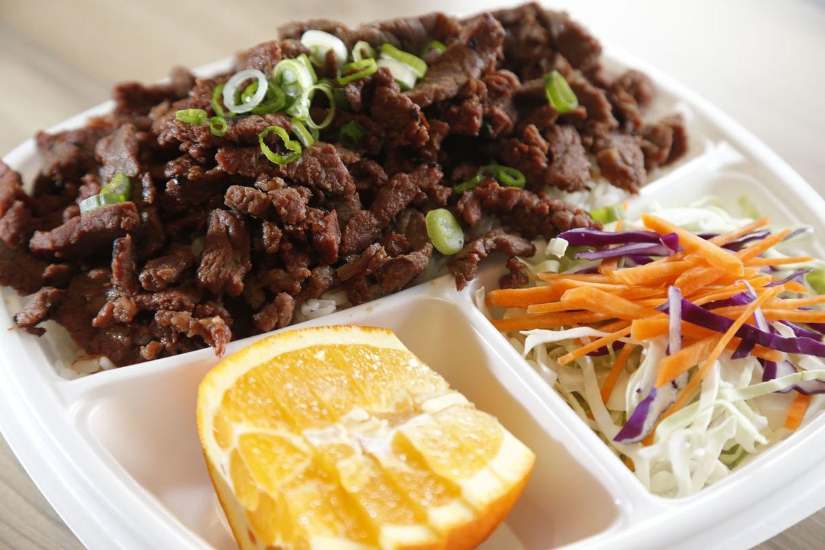 Flame Broiler beef and rice