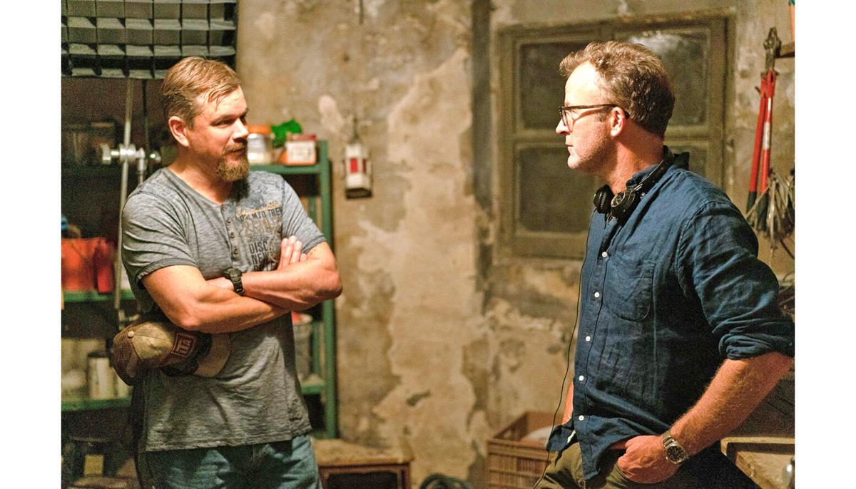 Matt Damon and director Tom McCarthy in 'Stillwater'
