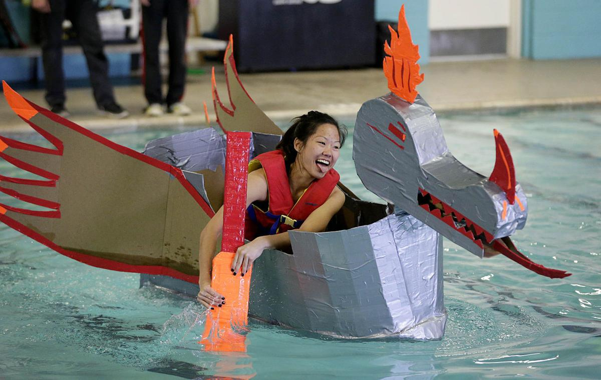 Test Drive Students Race Boats Made From Cardboard Duct Tape