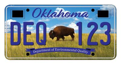 A bison on an Oklahoma license plate (copy)
