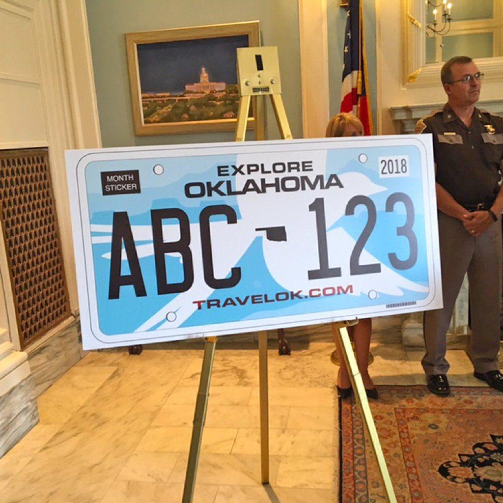 Scissortail flycatcher license plate