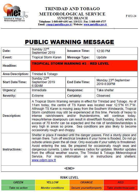 Red Alert 3: Tropical Storm Karen