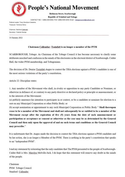 Dr. Denise Tsoiafatt Angus PNM letter