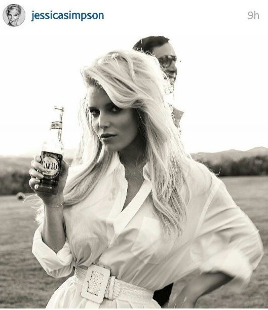Cari B 2020 Halloween Costume Jessica Simpson poses with Carib beer for Halloween | Local News