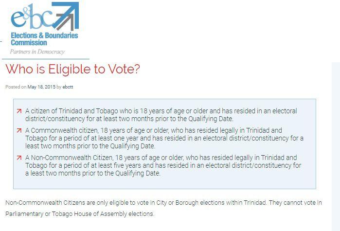 EBC Eligible to vote