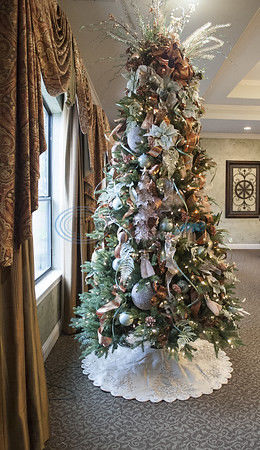Christmas tree trail currently on display at Prestige Estates