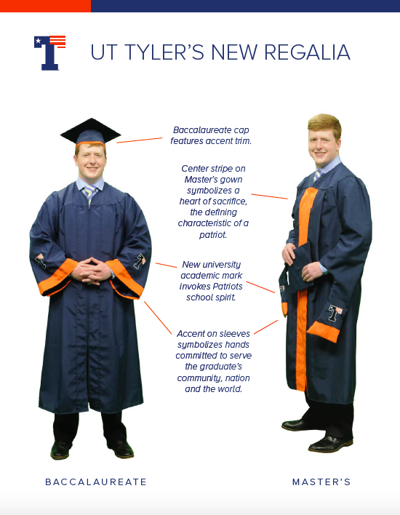 ut tyler announces new looks for graduation caps and gowns local