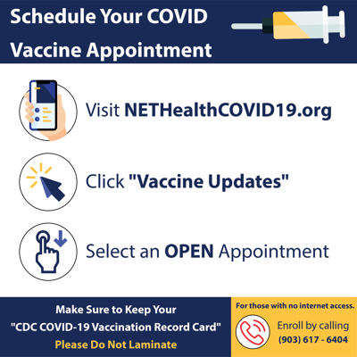 NET Health to host COVID-19 vaccines throughout the weekend at Harvey Convention Center